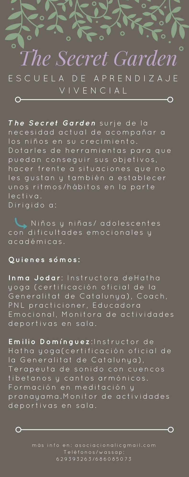 The Secret Garden: Servicios de Inma Coach