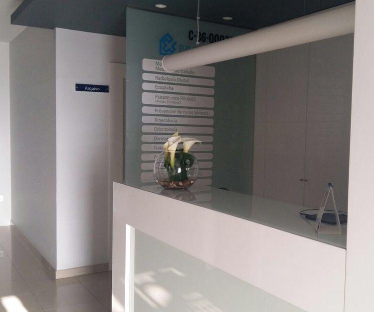 Zona para la recepción de pacientes