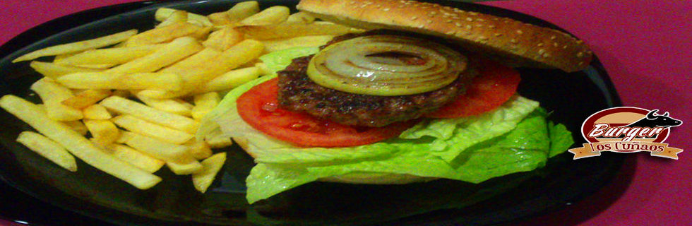 Hamburguesa normal con patatas por 4,50€