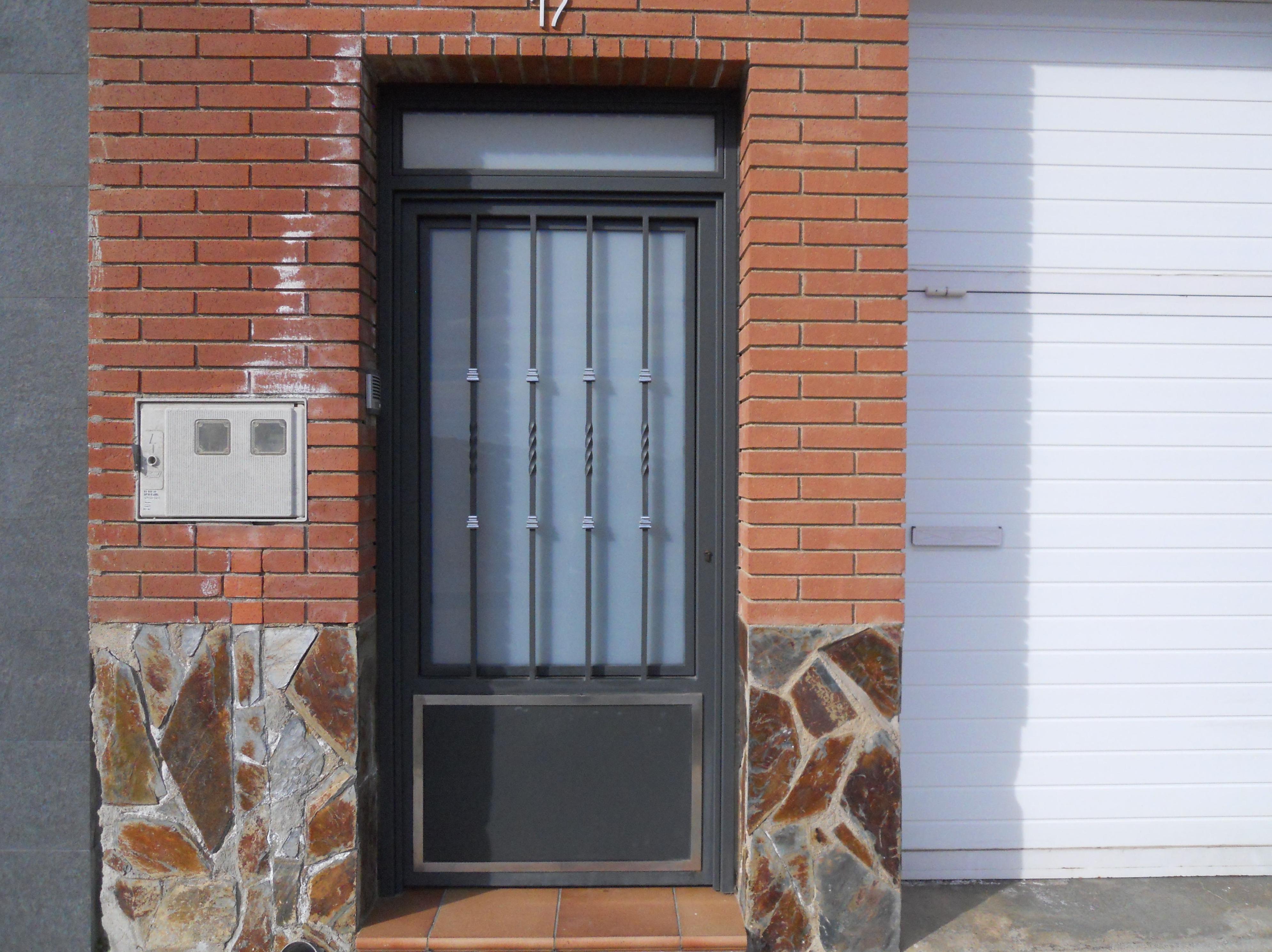 Puerta metalica de entrada