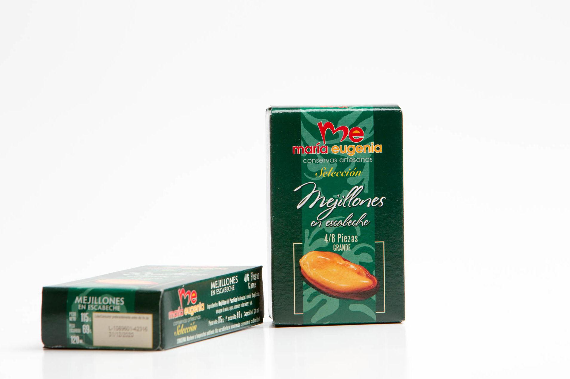 Mejillones en escabeche gigantes!!: Productos de Conservas Artesanas María Eugenia
