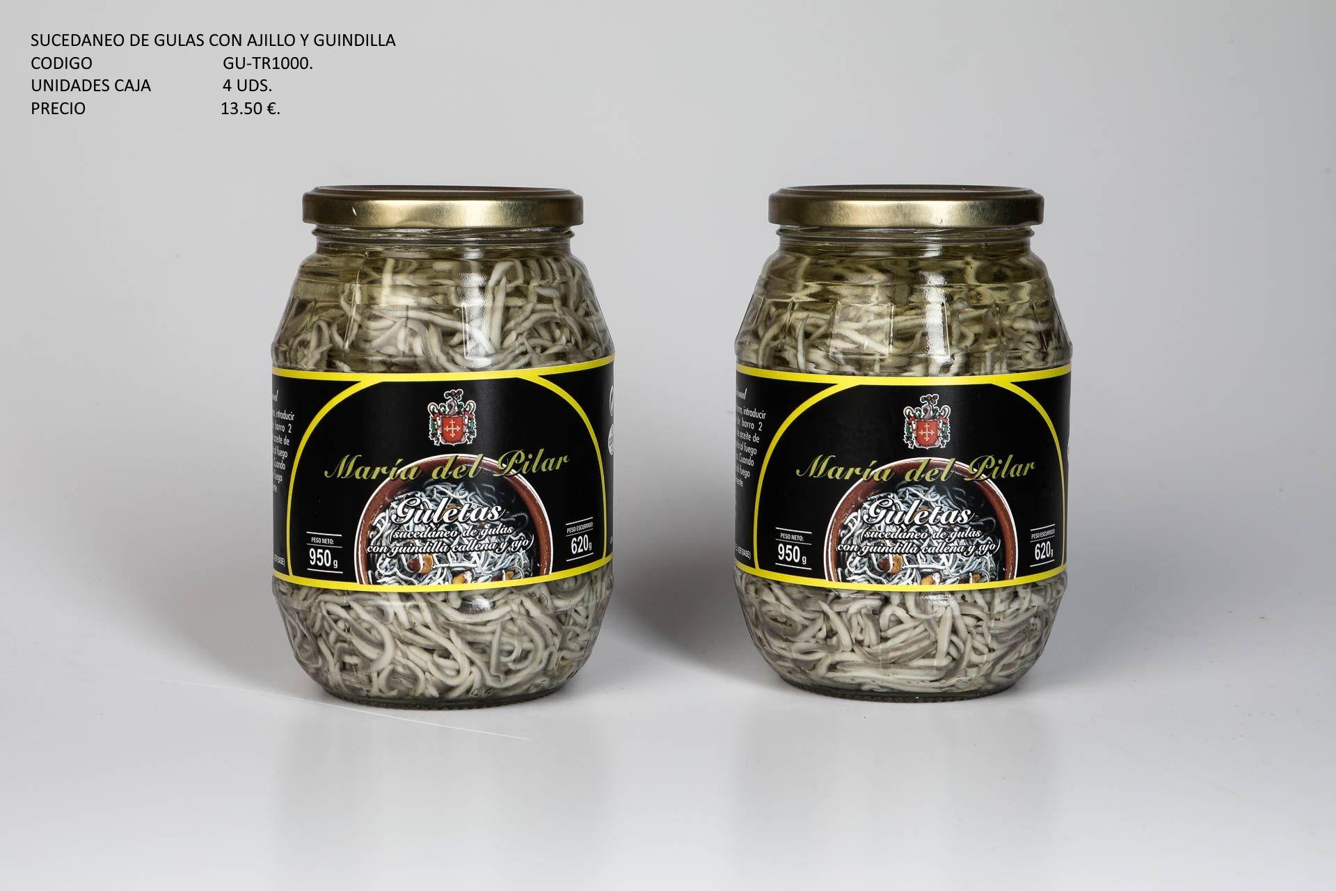 Sucedaneo de gulas con ajillo y guindilla: Productos de Conservas Artesanas María Eugenia