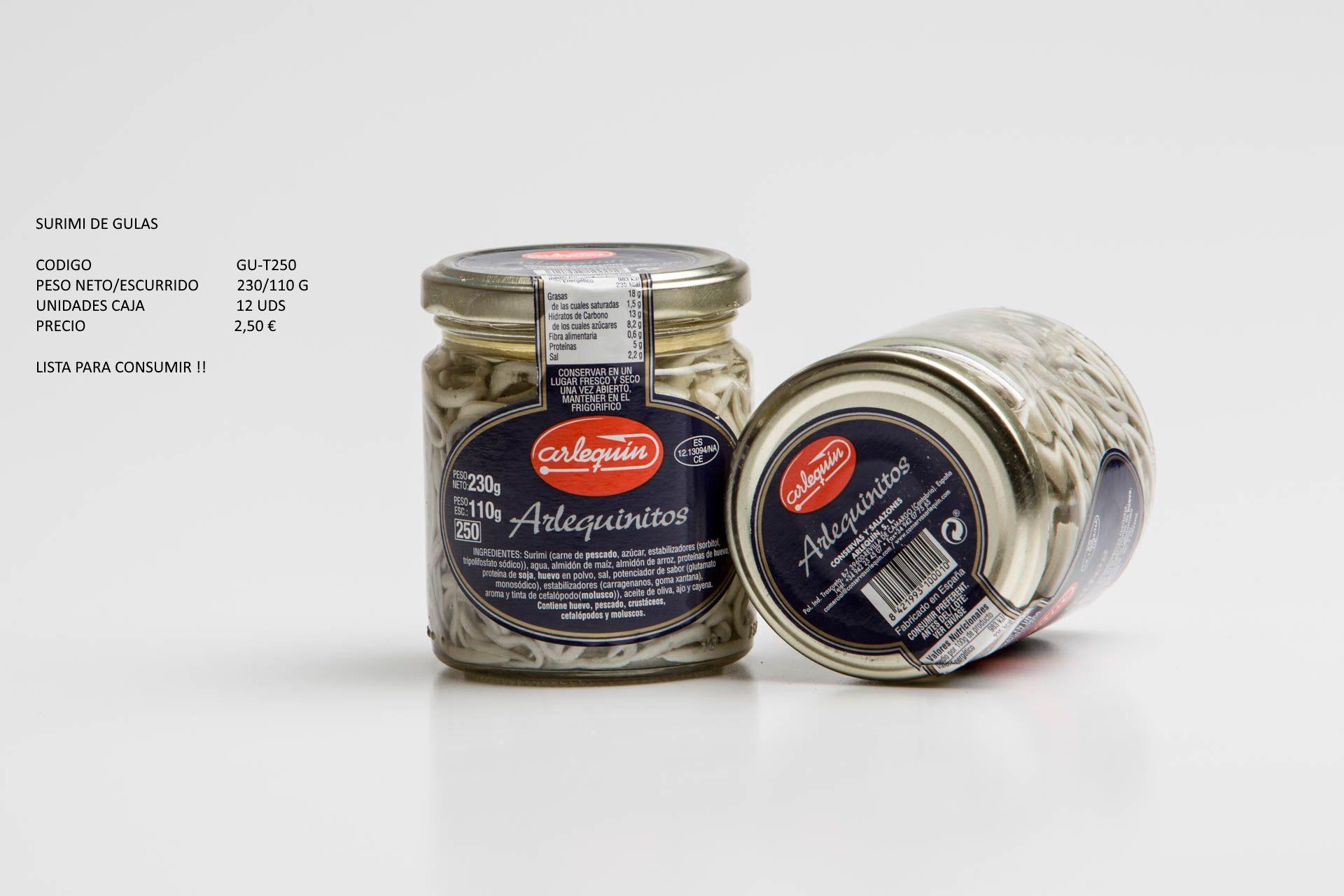 Surimi de gulas: Productos de Conservas Artesanas María Eugenia