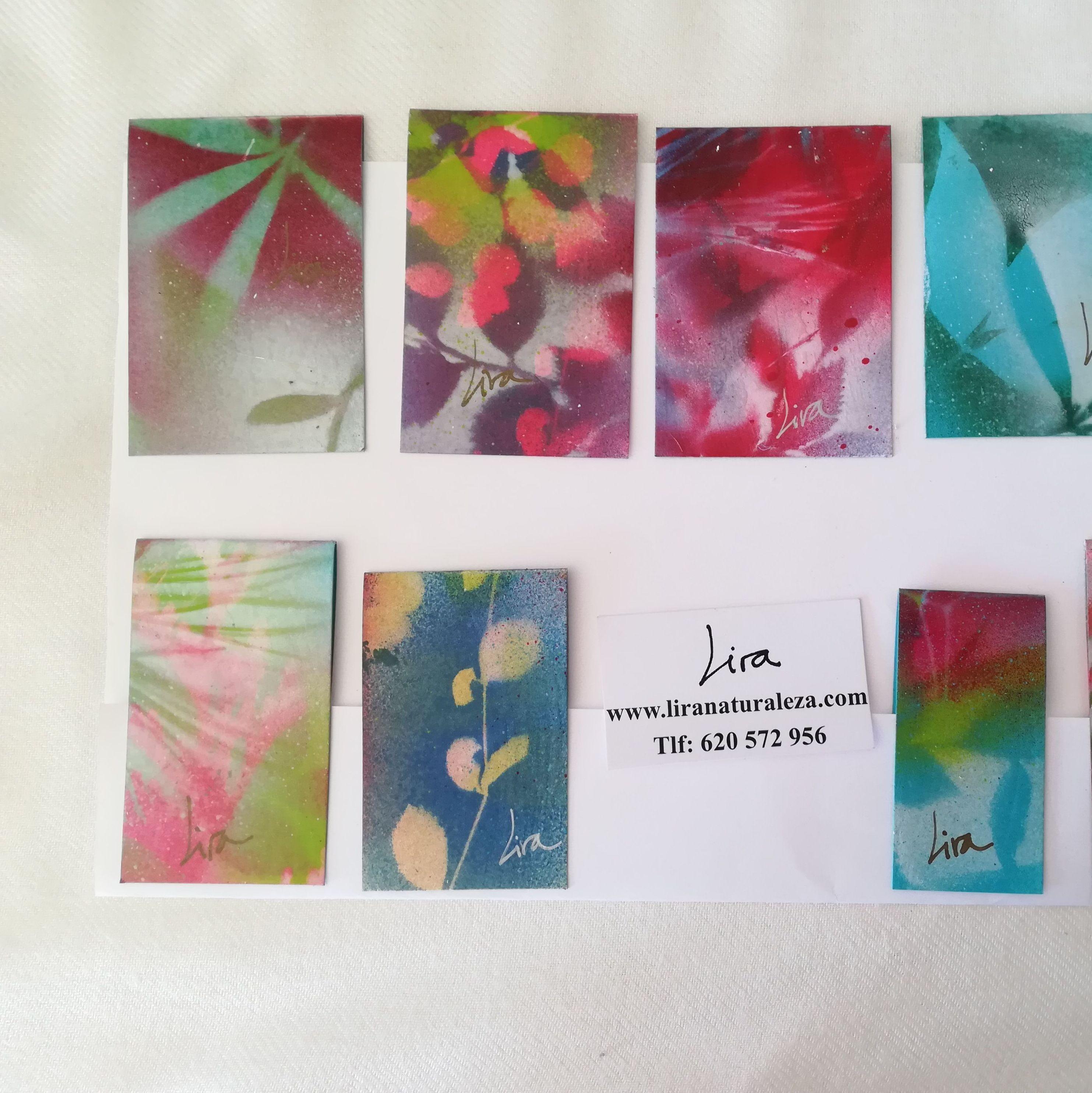 Marcapàginas pintados por Lira. Una pequeña ventana a la naturaleza de Lira para tus lecturas.Pintura Original y Unica en cada uno de ellos. Sujección con imanes interiores.