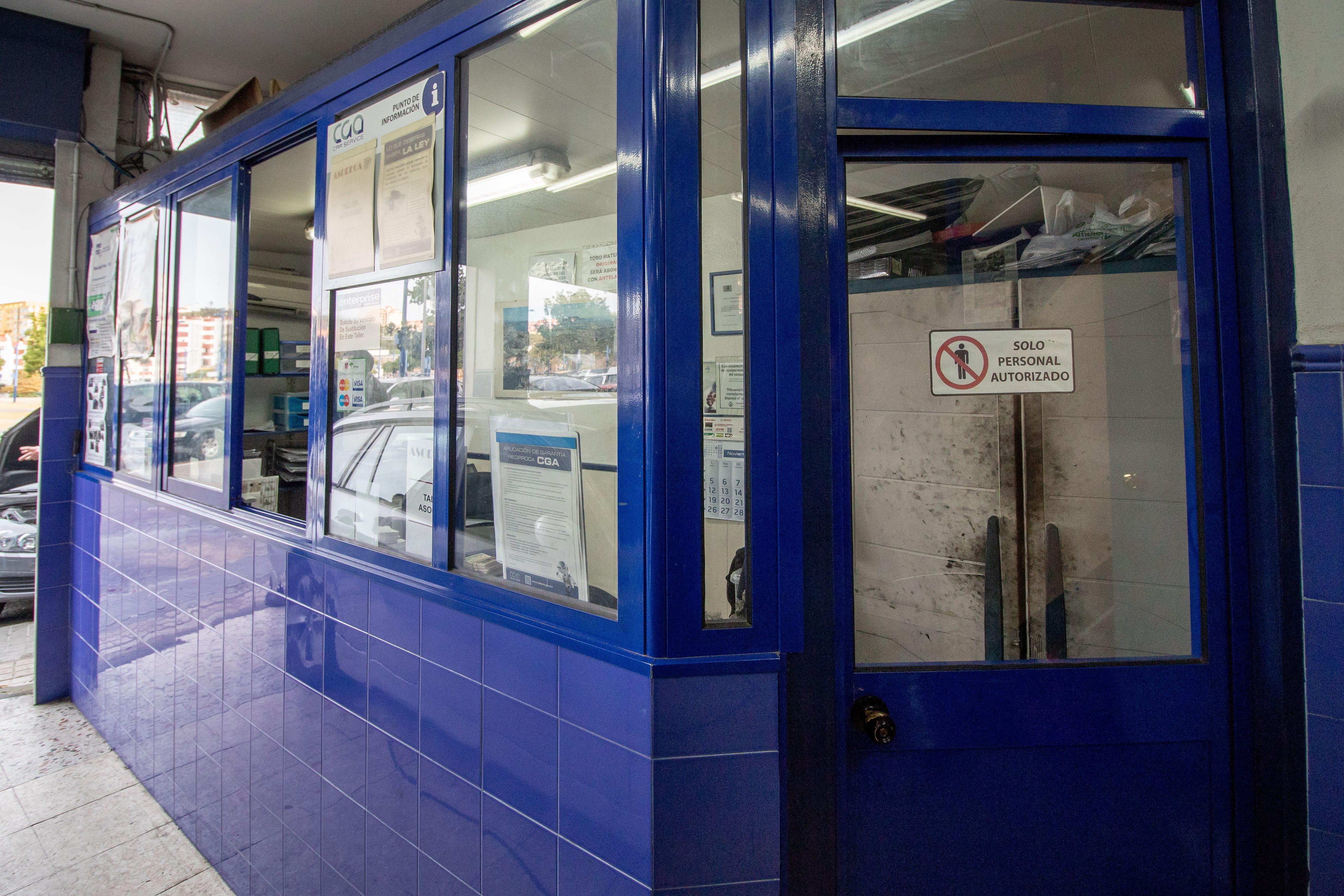 Puerta de entrada a la oficina