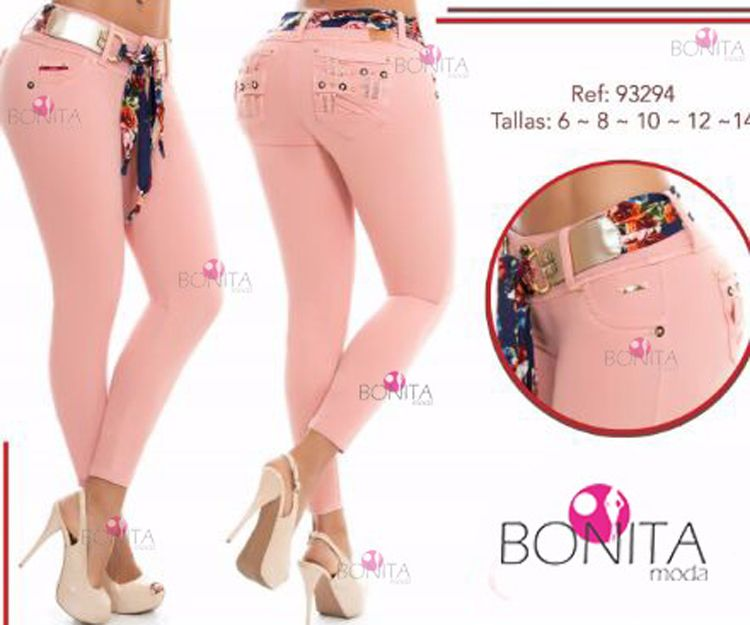 Pantalones vaqueros rosas