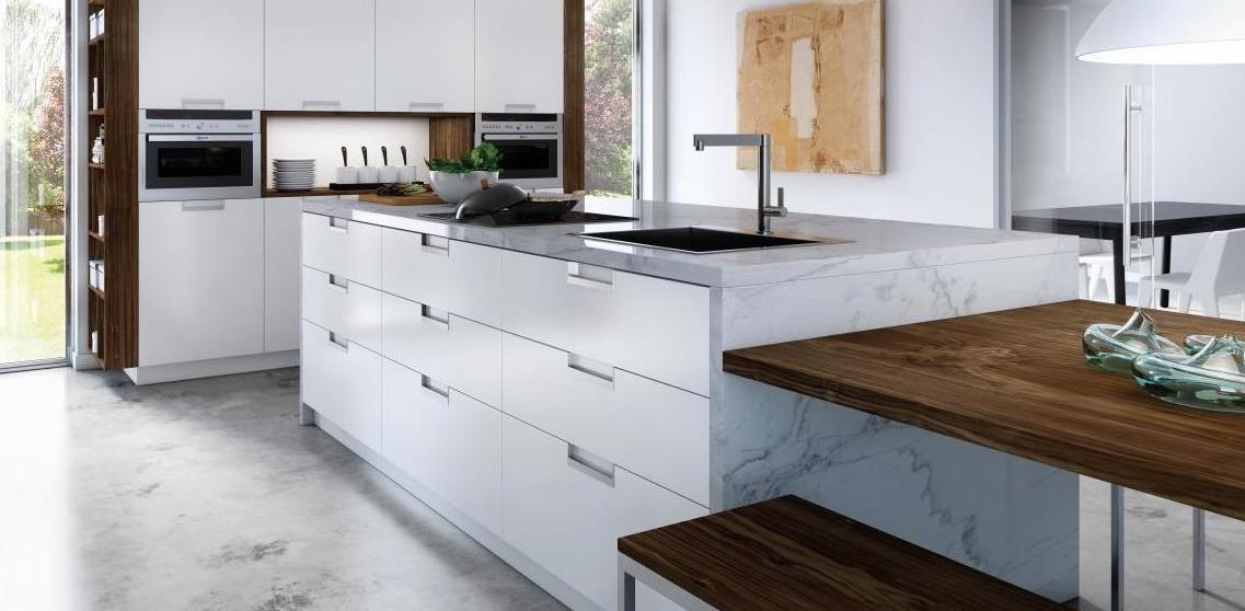 Muebles de cocina modelo Altea lacado seda