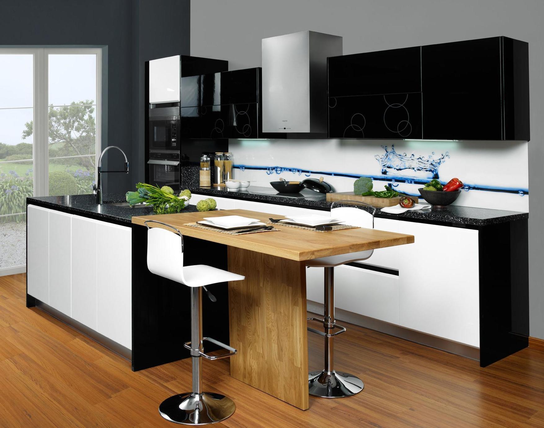 Muebles de cocina modelo Coral lacado brillo con gola