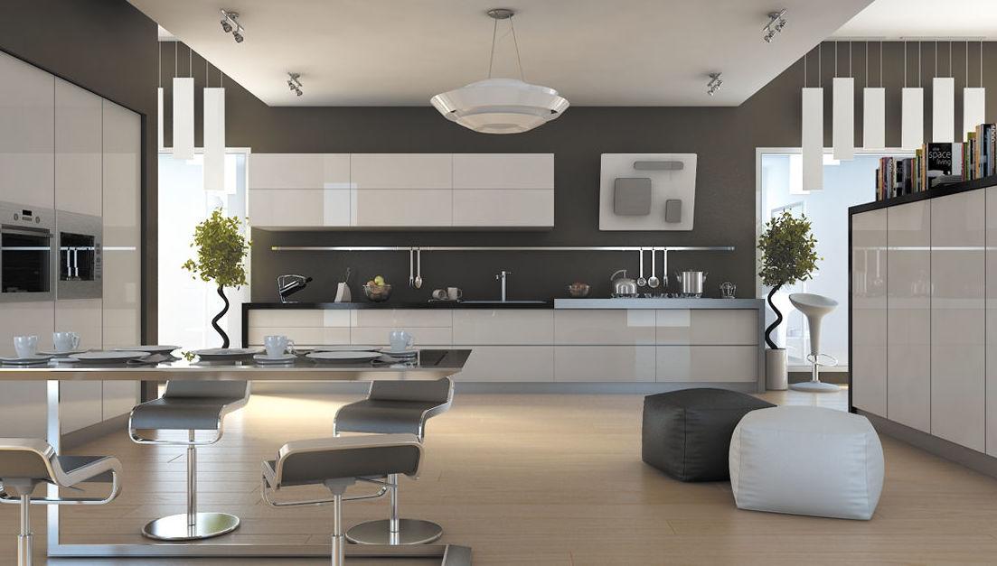 Muebles de cocina laminado lacado modelo Gloss