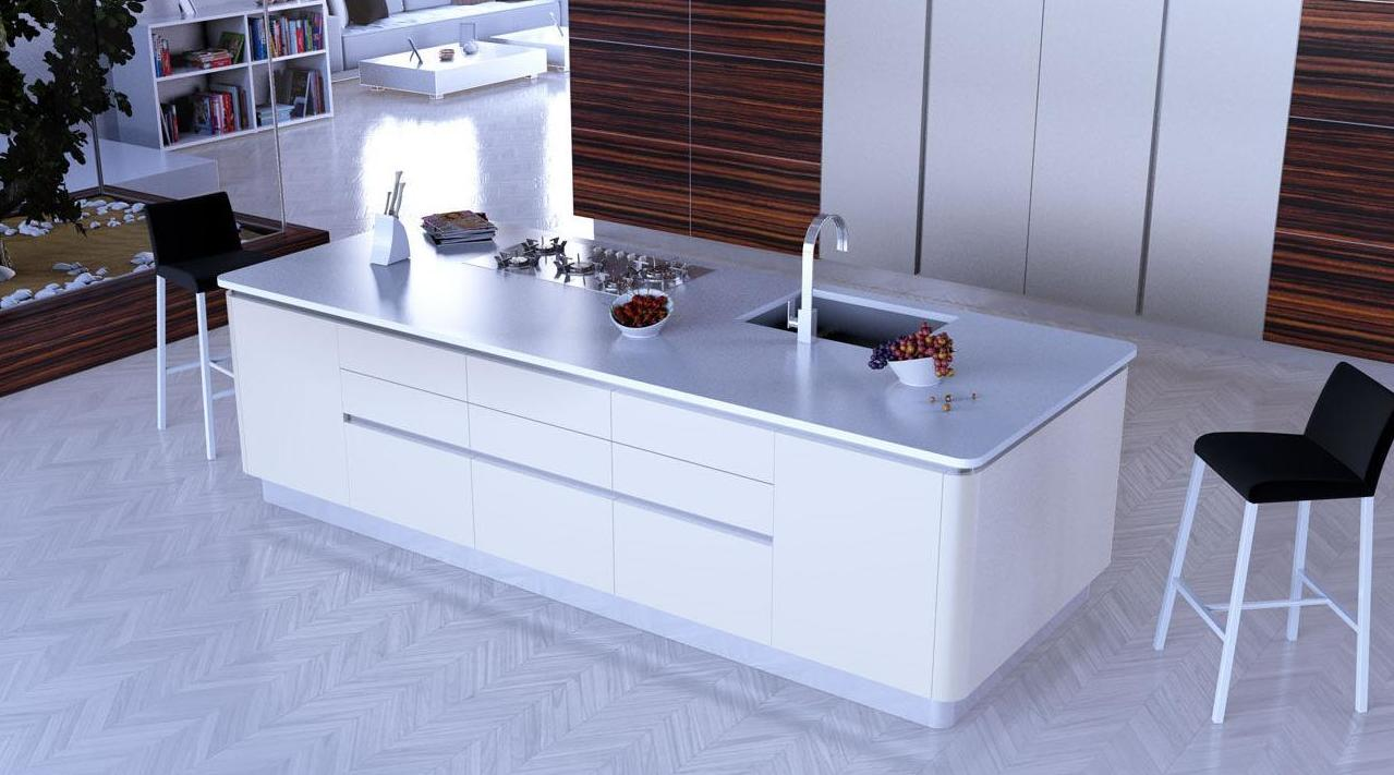Muebles de cocina modelo Glaciar lacado seda