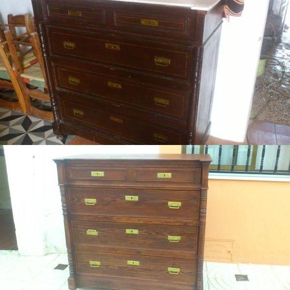 Cómoda (antes y después de la restauración)