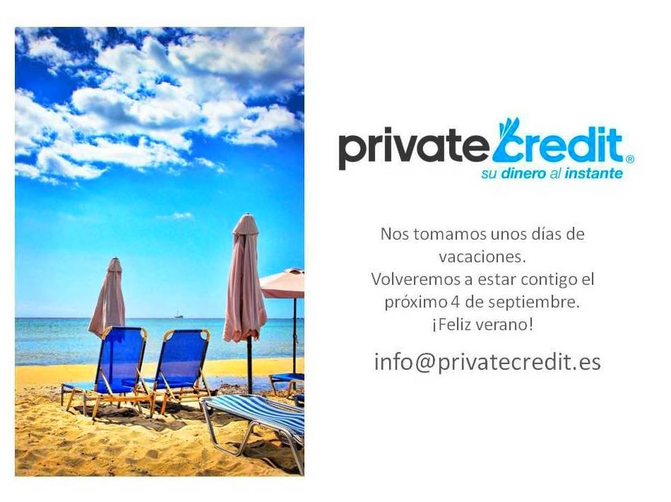 Vacaciones Dinero rápido Préstamo personal Private Credit