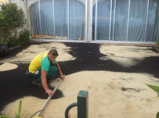 Preparación de espacio para jardín