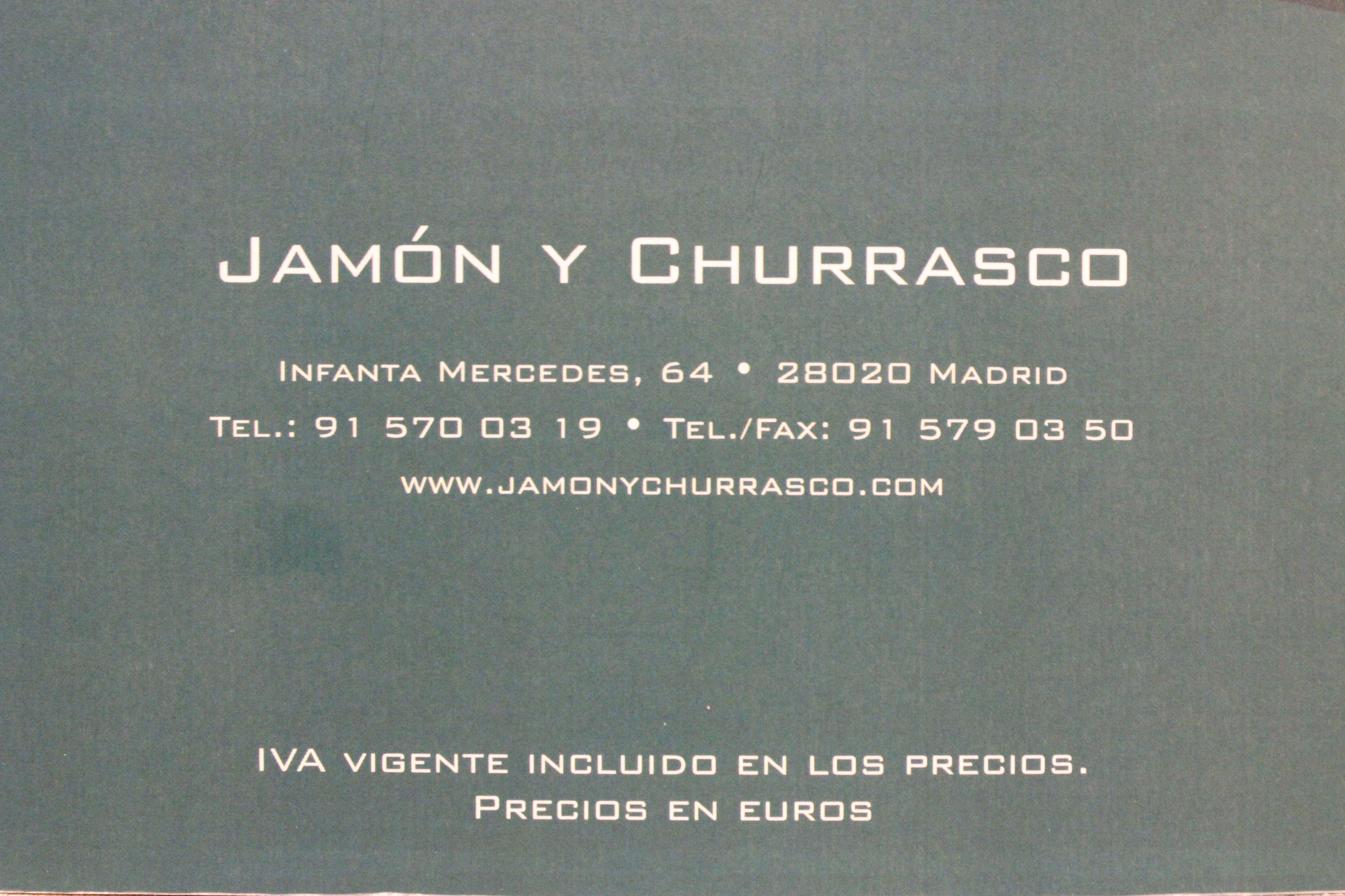 Foto 1 de Cocina española en Madrid   El Jamón y El Churrasco