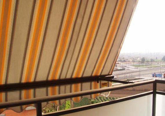 Toldo balcón barandilla