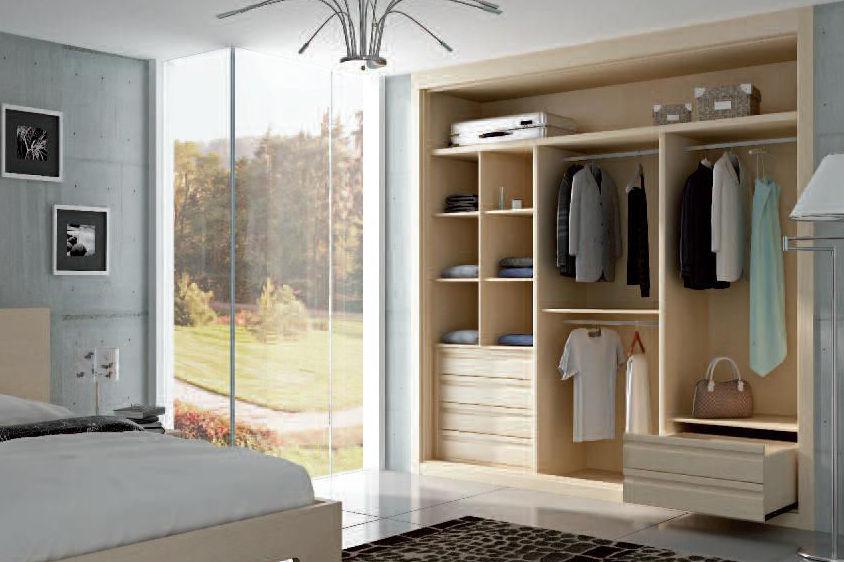 Interior de armarios de madera