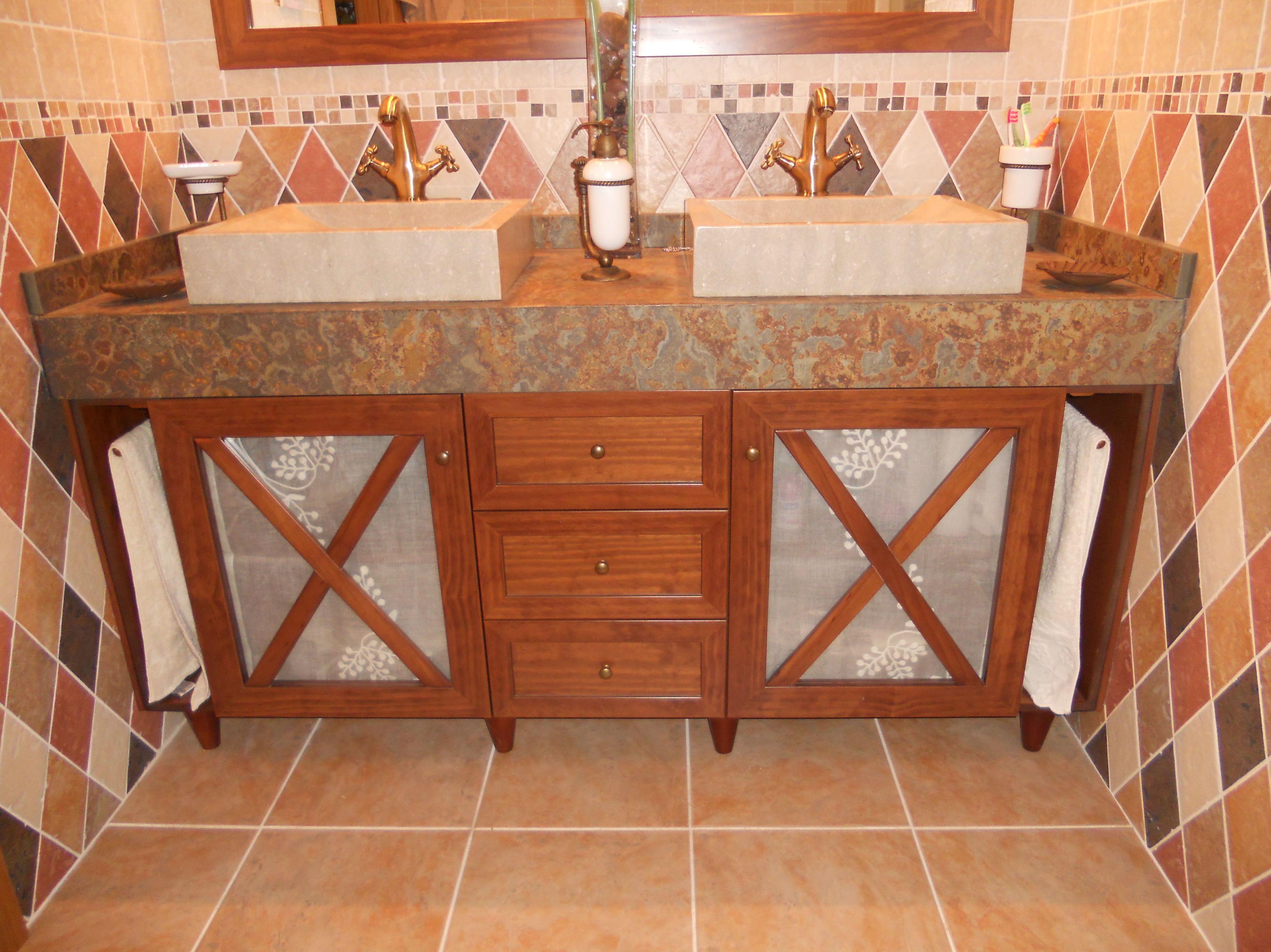 Mueble para el lavabo de madera