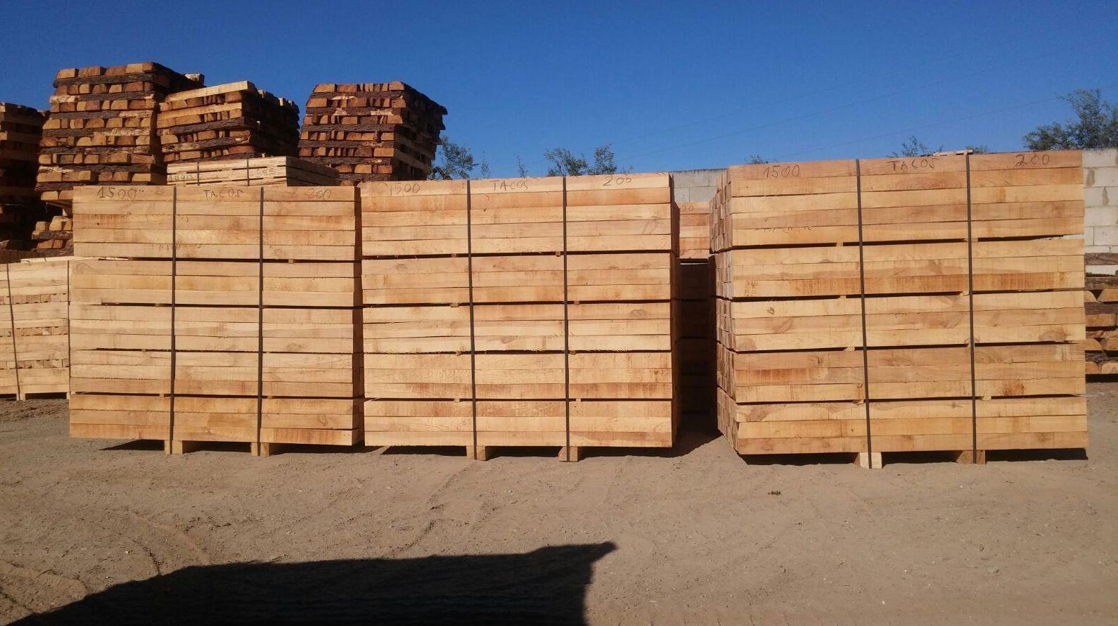 Aserradero de madera. Fabricación de palets