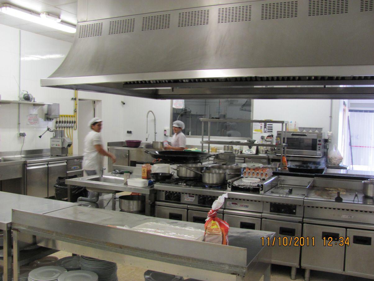 Cocinas de los restaurantes ubicados en Alzira