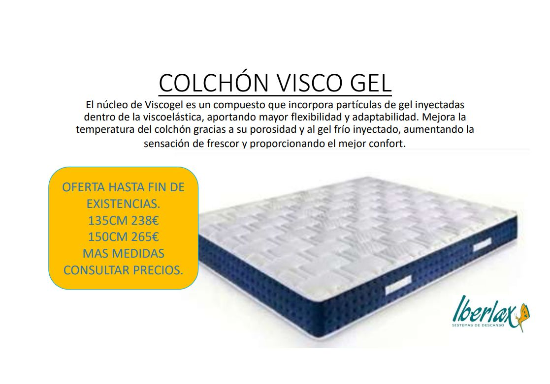 Colchon Visco Gel }}