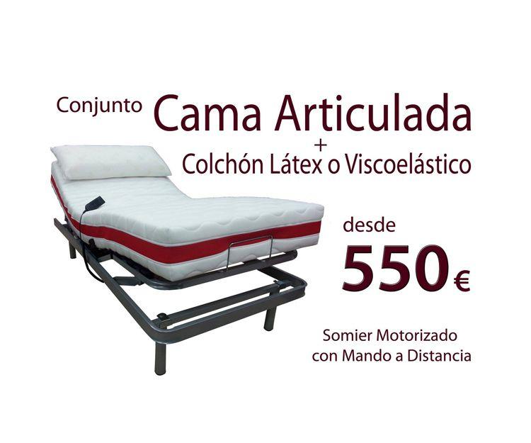 Cama articulada y colchón en Villava