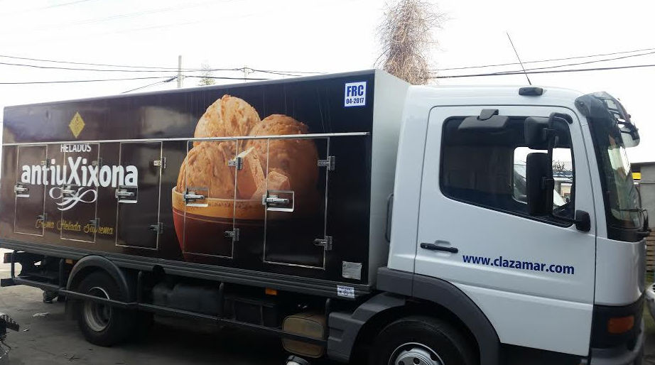Carrocerías heladeras de varias dimensiones