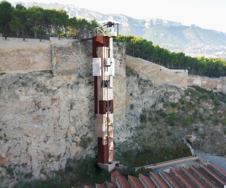 Ascensor de acceso al Castillo de Denia