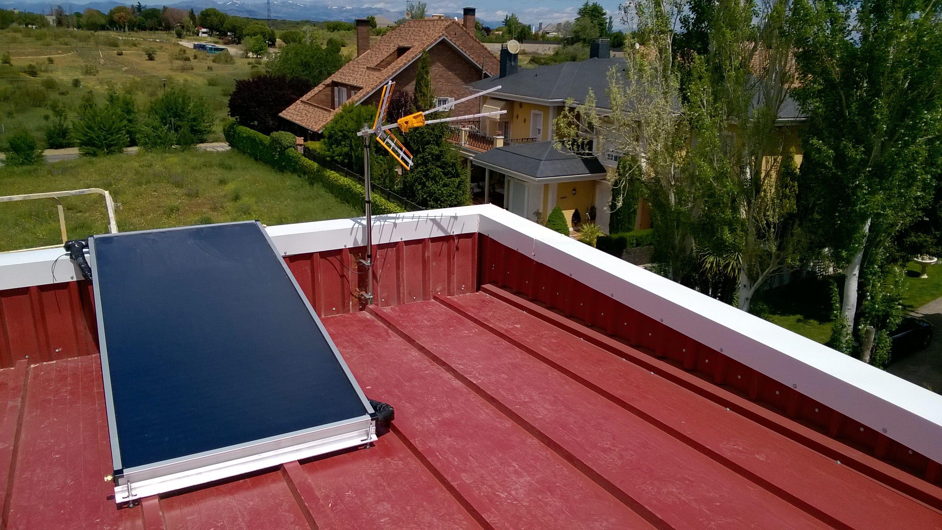 Placa solar térmica de Manaut, Drainback 150L.
