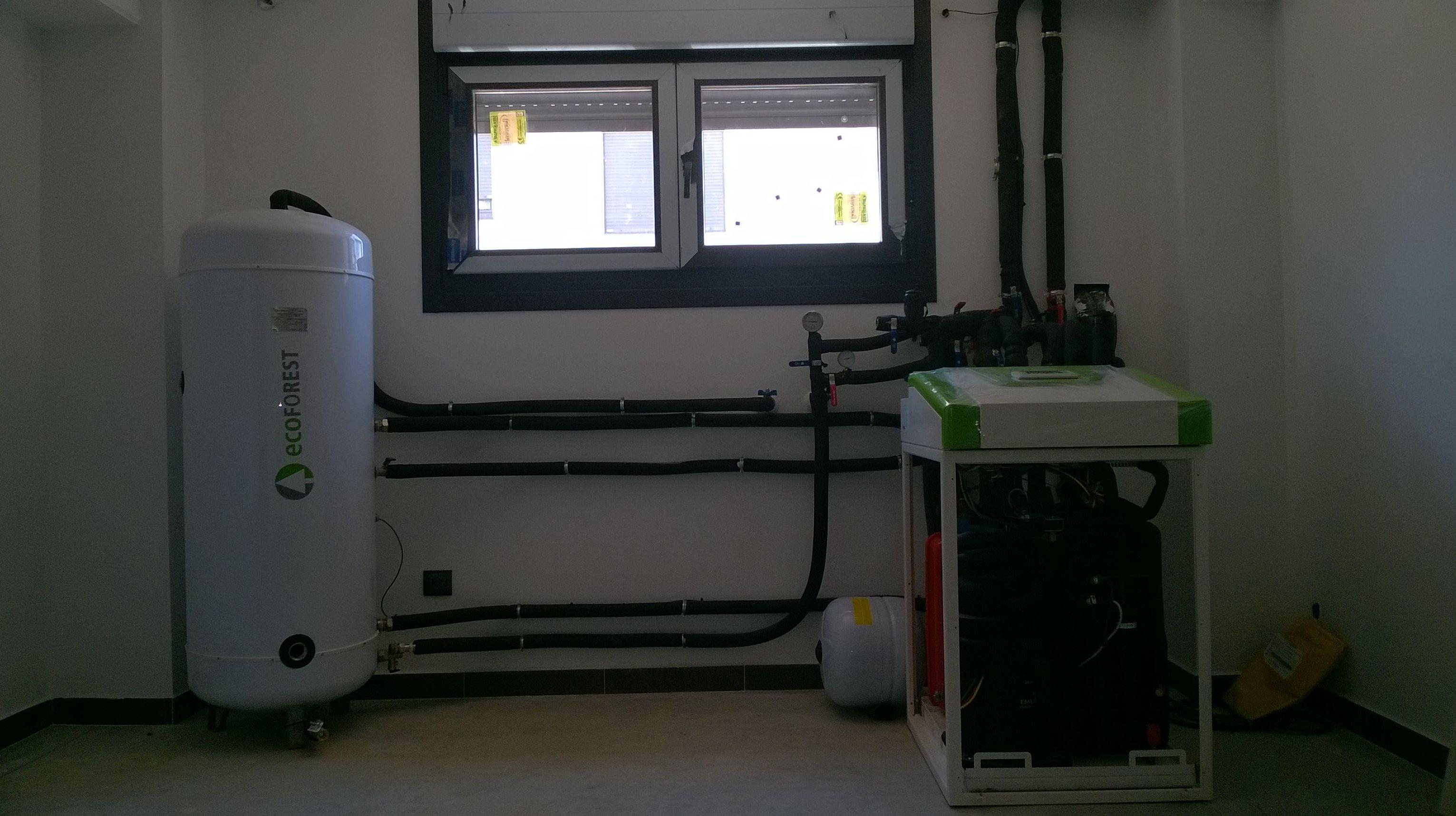 Instalacion de geotermia.