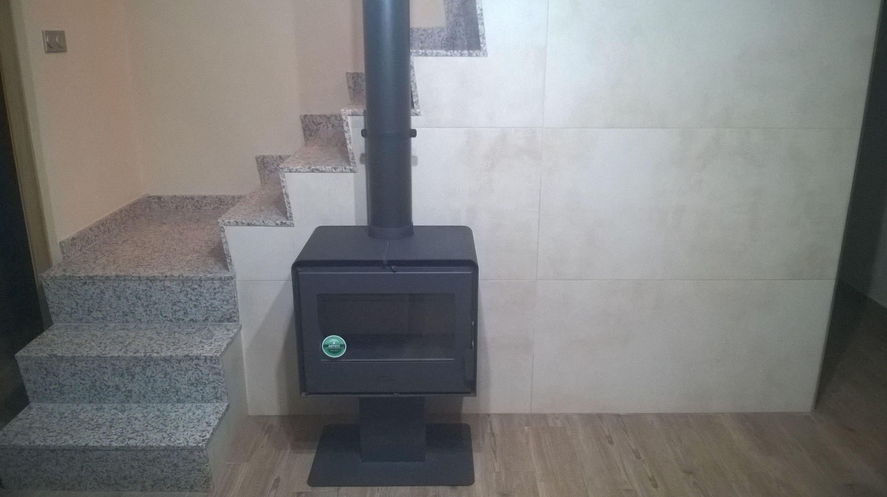 Instalacion estufa de leña Lacunza Ocean