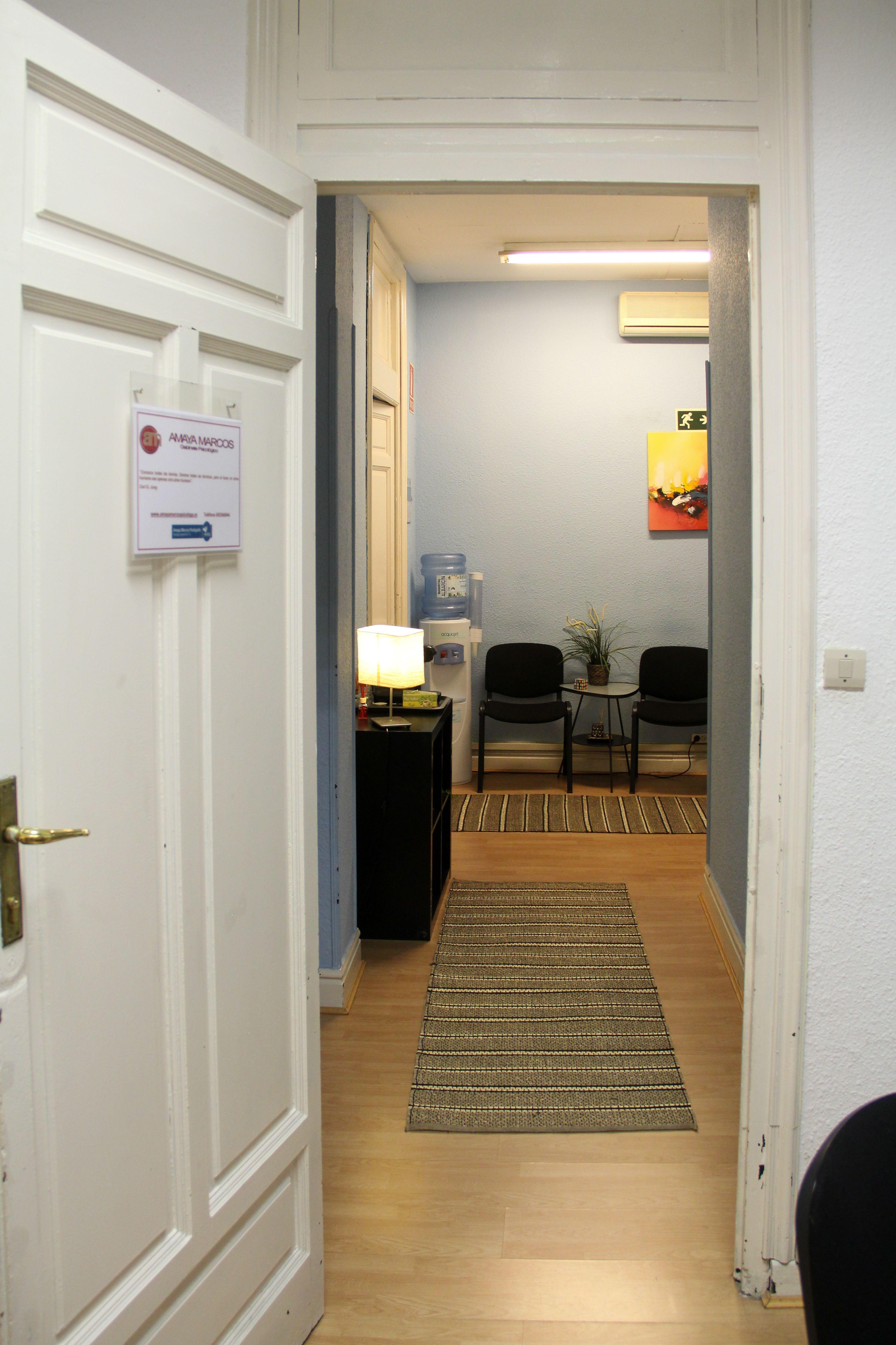 Vista de la sala de espera
