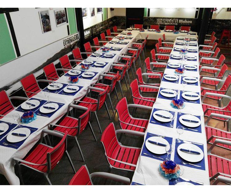 Interior del restaurante en Getafe
