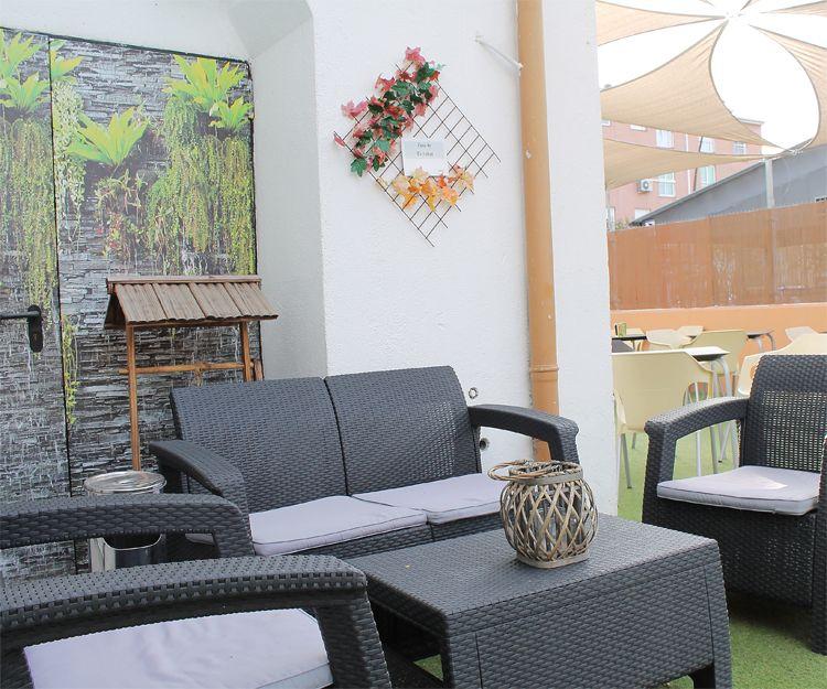 Zona exterior en el restaurante Casa Extremadura