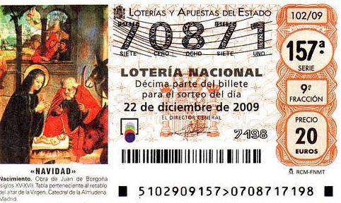 Lotería de Navidad: Servicios de Administración de Loterías nº 13 Pz. Santa Catalina