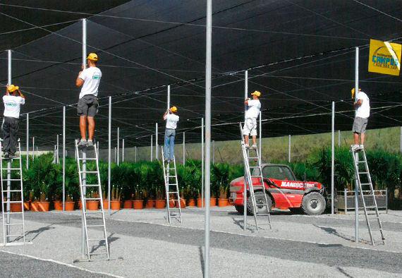 Construcción de Invernaderos Campos - Personal en acción