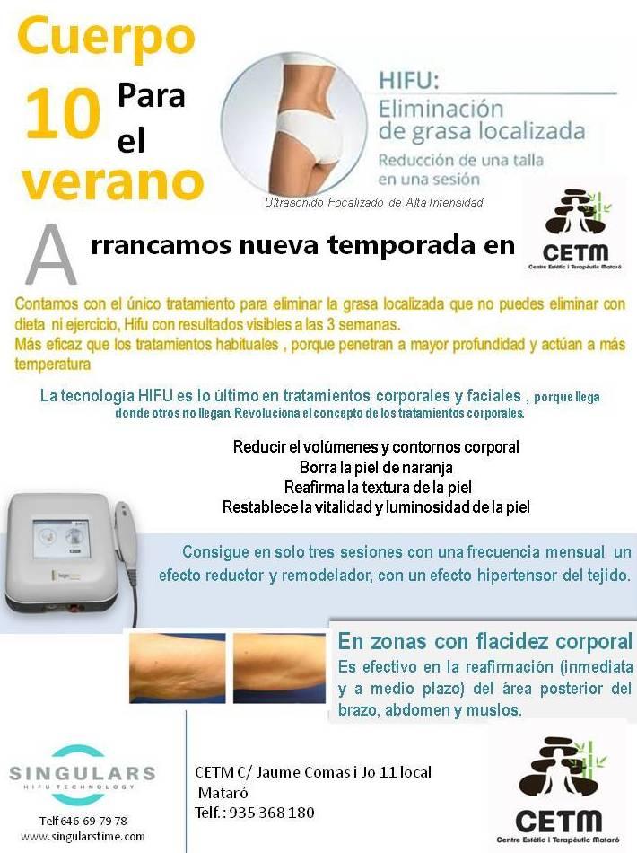 HIFU: Servicios de CTM Centre Terapèutic i Estètic Mataró