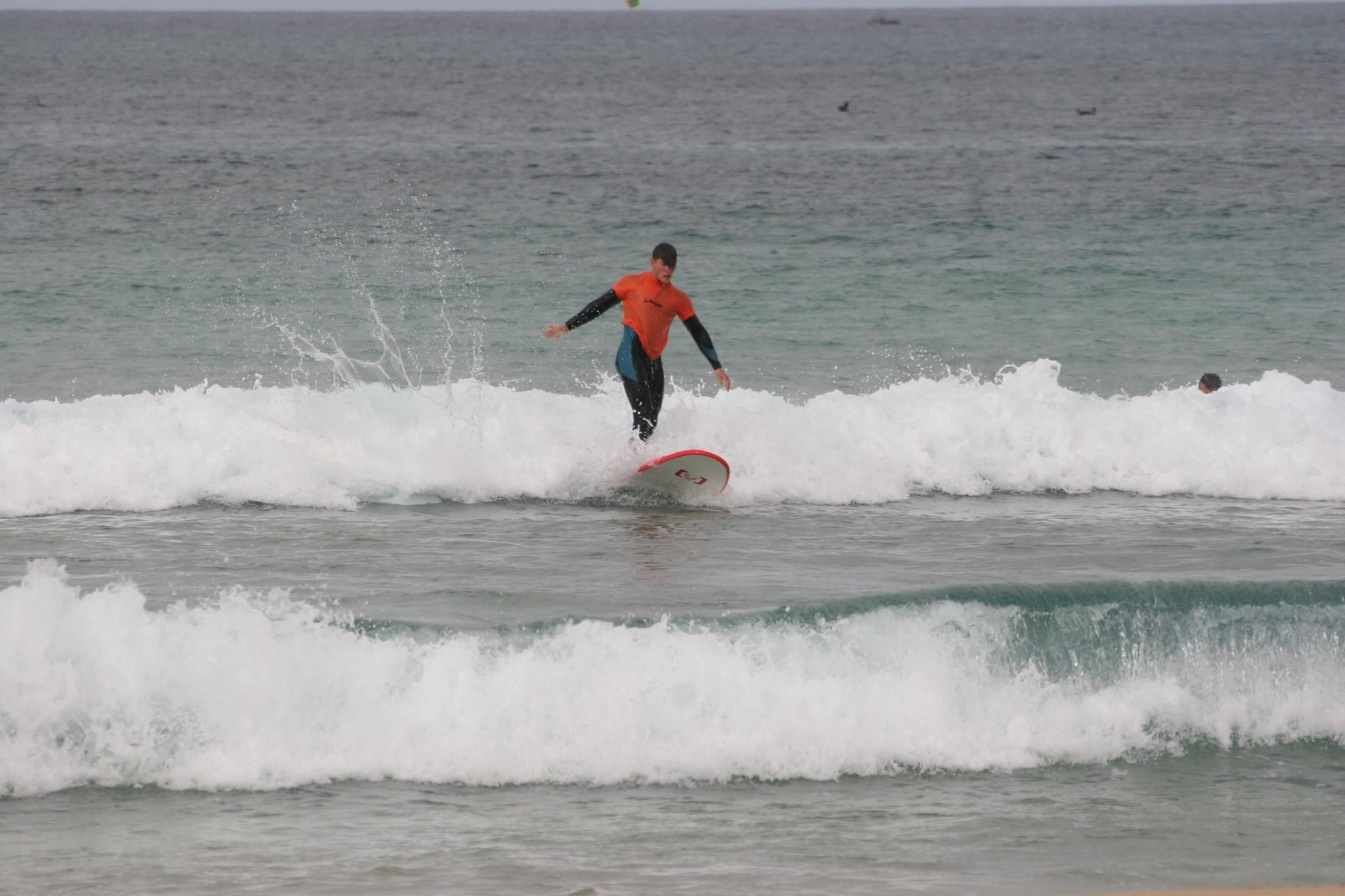 Specialized in surf lessons in El Cotillo