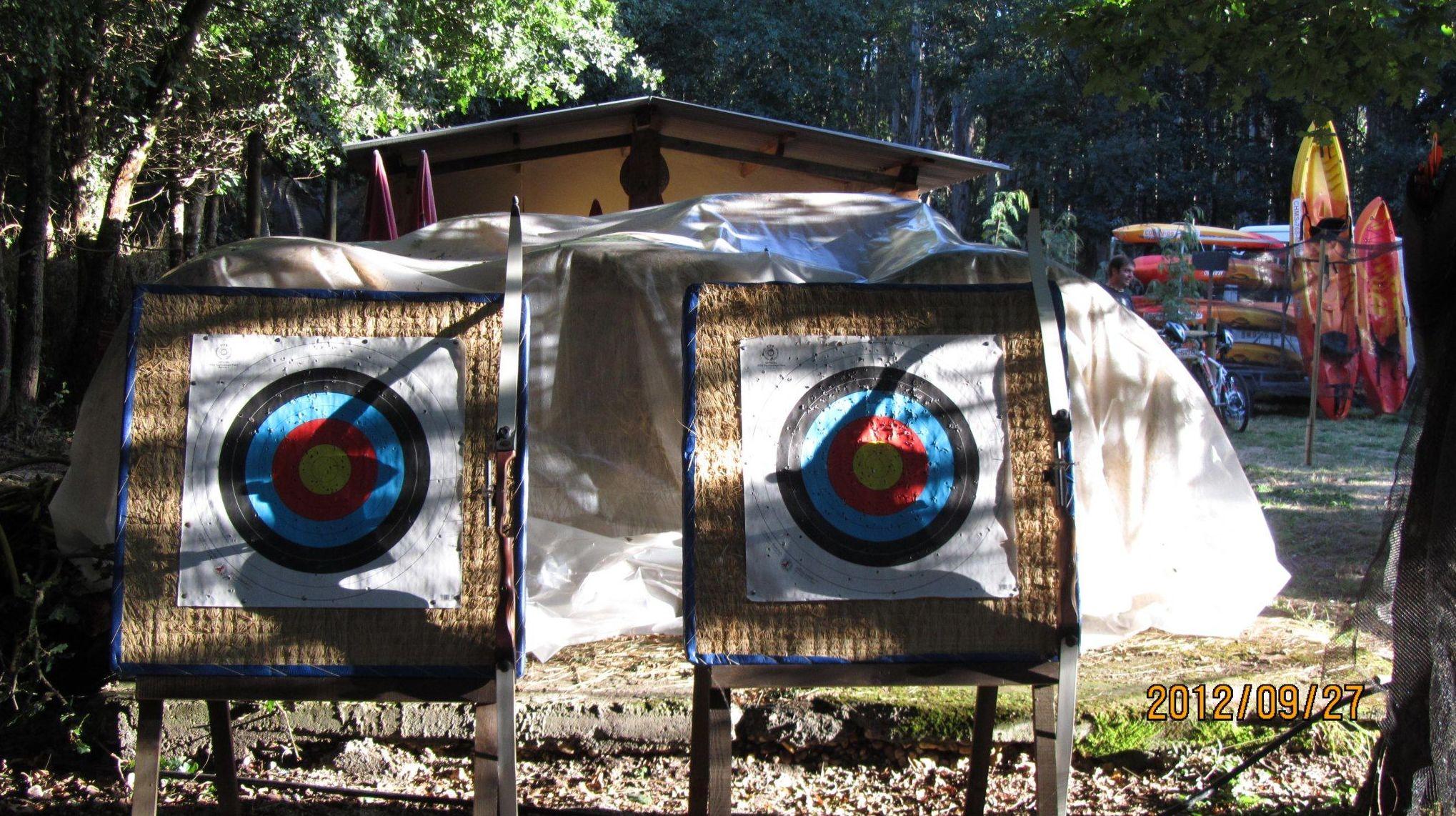 Actividad de tiro con arco en Taberna O´Cruceriro
