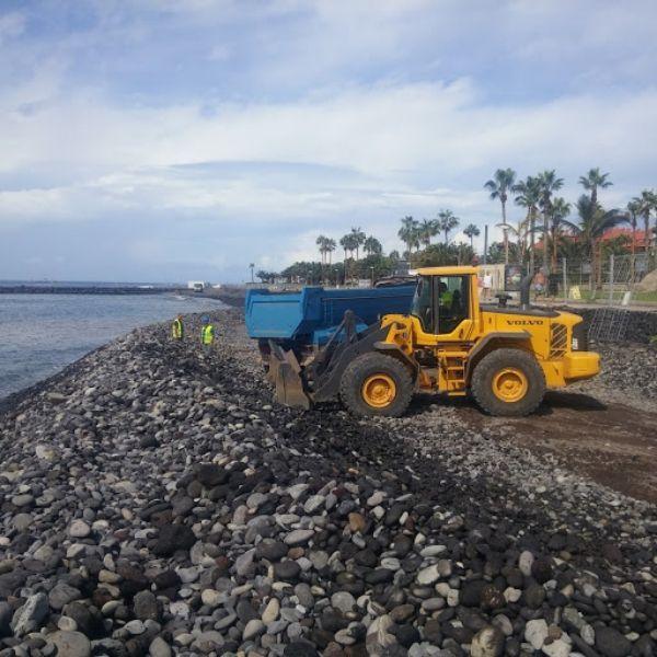 Trabajos de movimientos de tierra en Tenerife