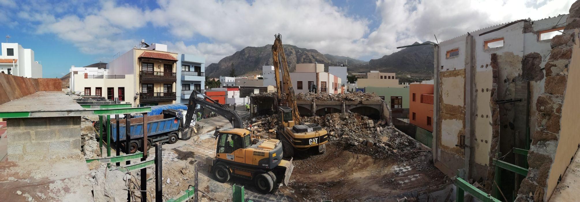 Trabajos de excavación en Tenerife