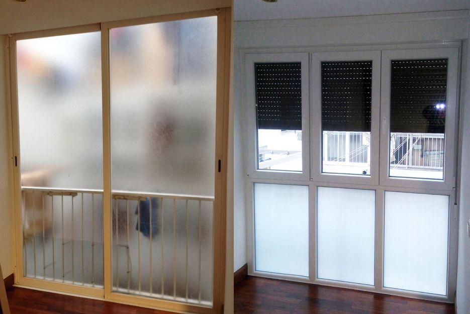 Cerramiento de balcón, antes y después