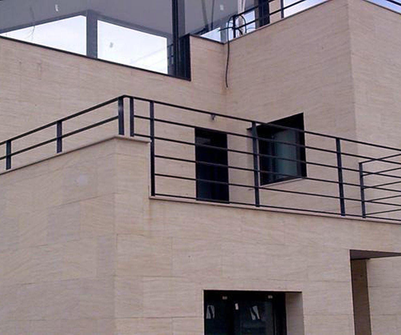 Barandillas para terrazas en aluminio en Valencia