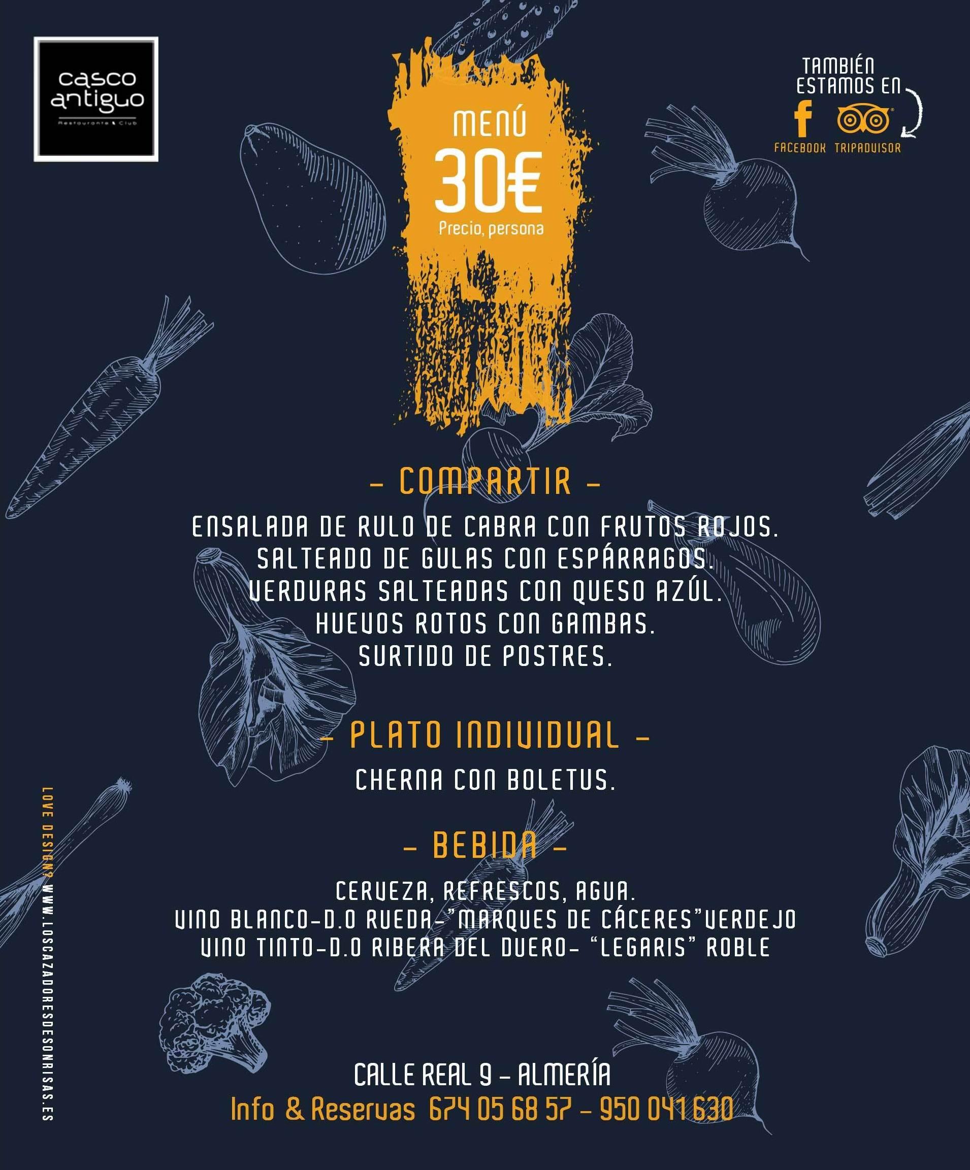 Menu Degustacion 30€