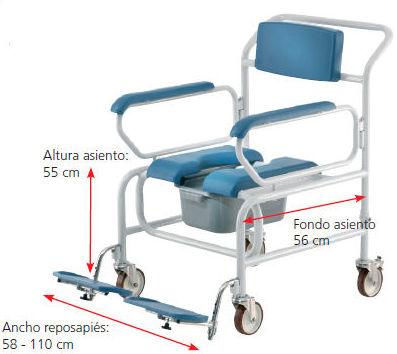 silla con inodoro XL Samoa