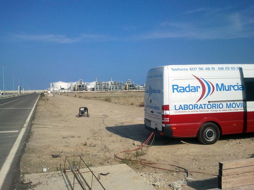 Ensayo de descargas parciales en Dársena Sur del puerto de Castellón de la Plana