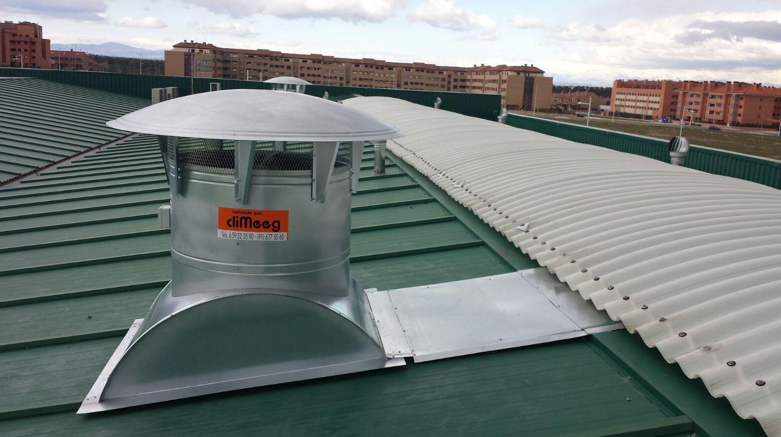Ventilación y extracción calor de naves en Madrid