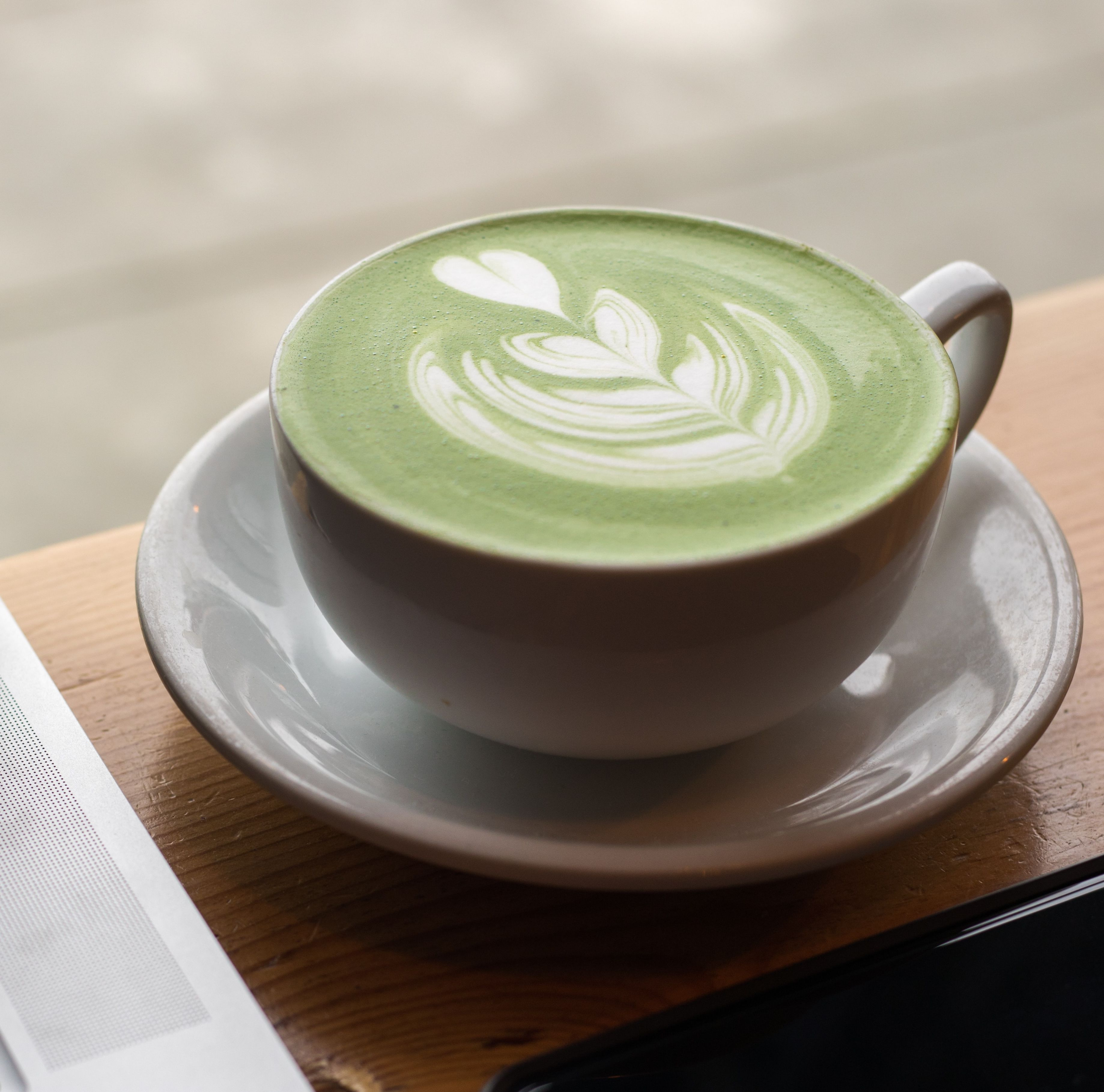 Latte Matcha: Productos de Kin+Ilk Café