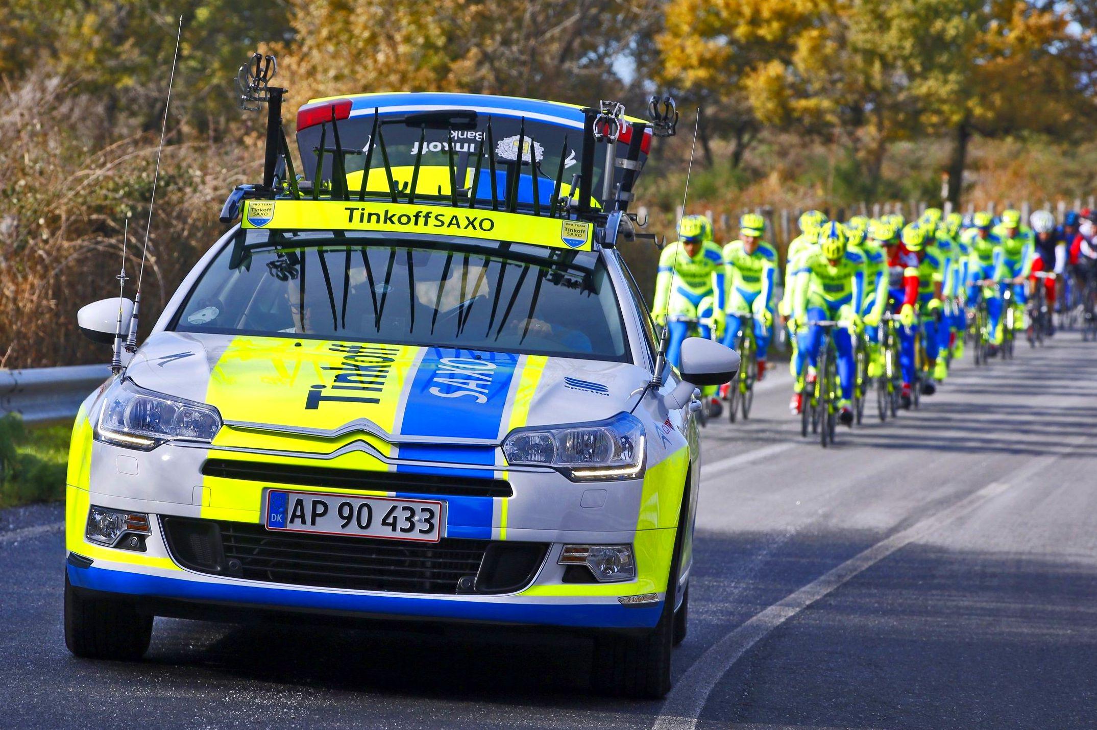 Citroën con Alberto Contador y su equipo Tinkoffsaxo  TOUR DE FRANCIA 2015