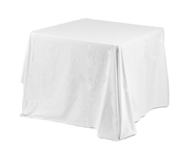 Mantel blanco para mesa de 90 cm x 90 cm: Alquiler de Mantelería & Menaje