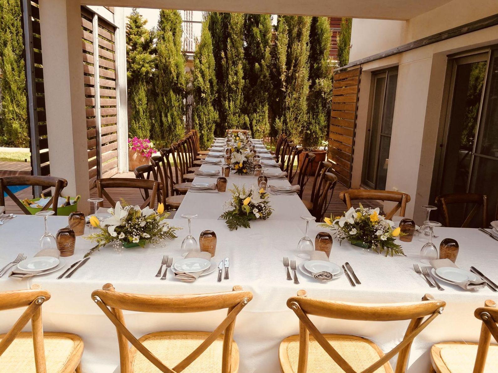 Foto 9 de Alquiler de sillas, mesas y menaje en El Palmar | Mantelería & Menaje